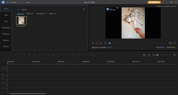 Creare una sigla YouTube con EaseUS Video Editor