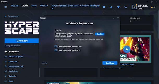 Installare Hyper Scape sul computer
