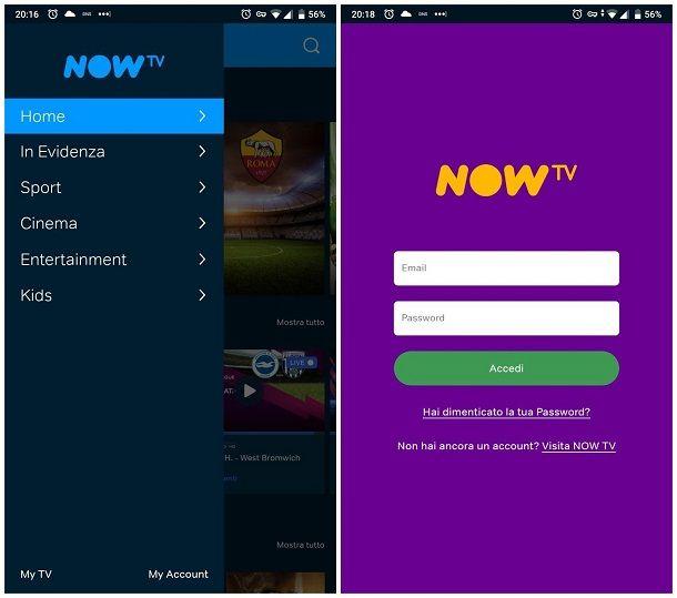 Come installare NOW TV su Android
