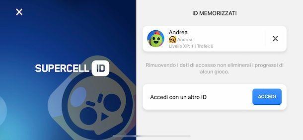 Accedere a Brawl Stars con Supercell ID