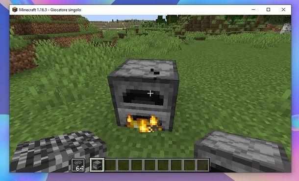 Fornace in azione Minecraft