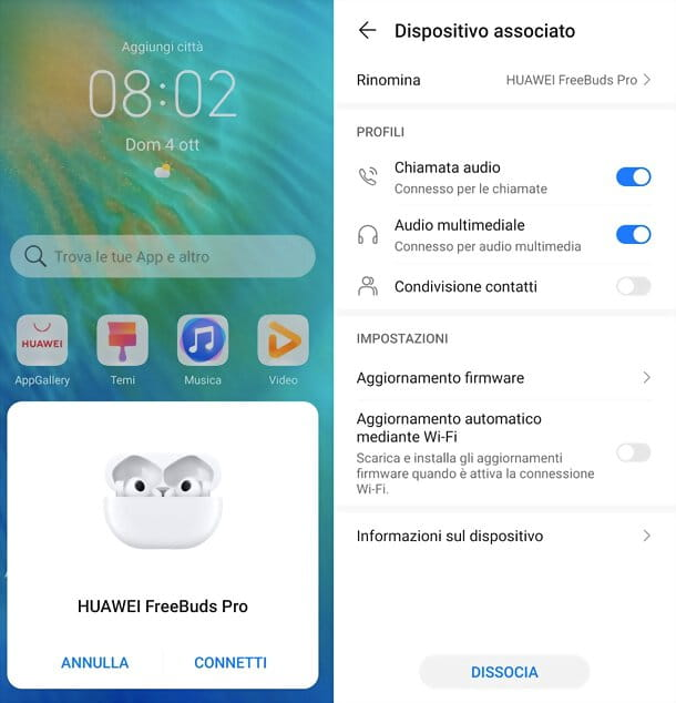 Associazione HUAWEI FreeBuds Pro