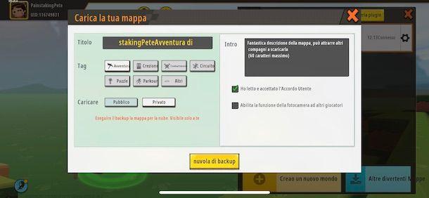 Creare una mappa condivisa su Mini World