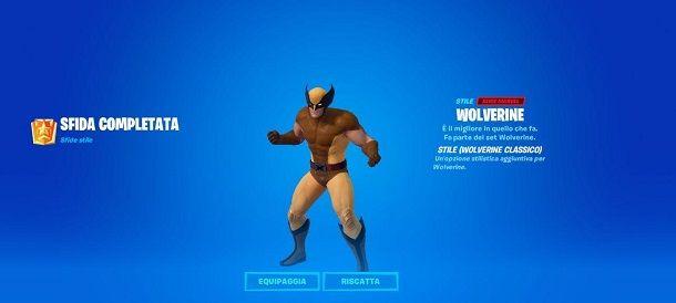 Come sbloccare Wolverine Classico su Fortnite