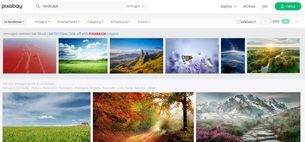 Come trovare immagini senza copyright su Pixabay