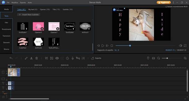 Importare media in EaseUS Video Editor