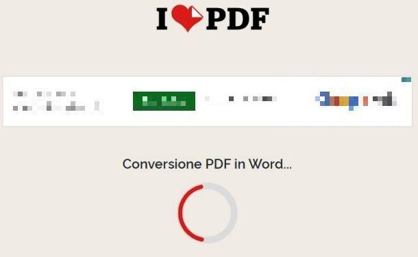 Conversione PDF con iLovePDF