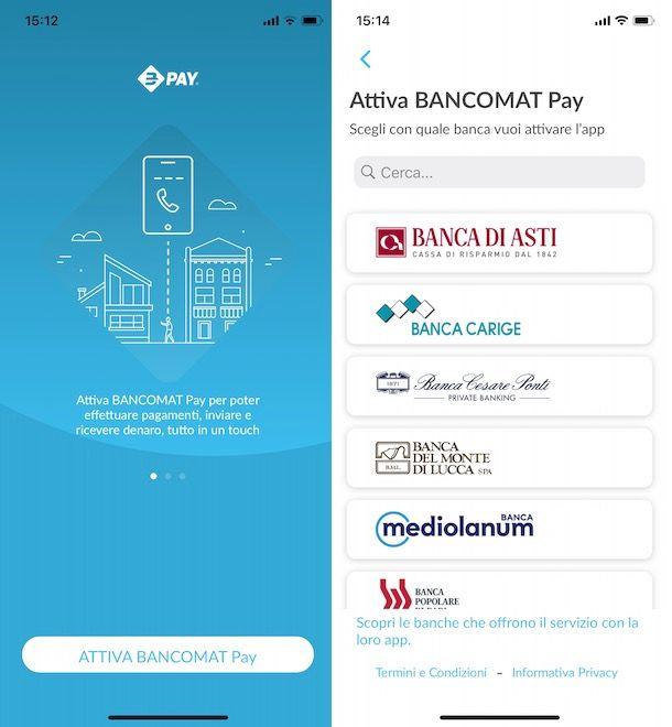 Attivazione Bancomat Pay
