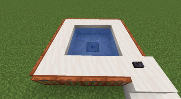 Vasca idromassaggio automatica su Minecraft