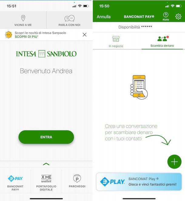 Bancomat Pay con Intesa Sanpaolo
