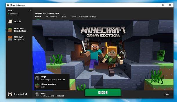 Minecraft Launcher Java Edition