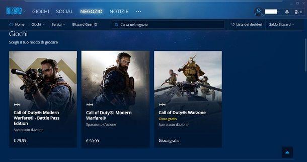 Call of Duty Modern Warfare su Battle.net