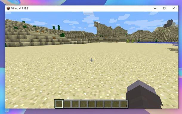 Spazio vuoto Minecraft
