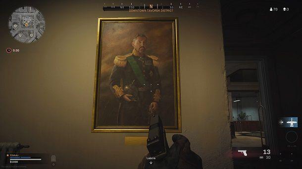 Uomo con spada dipinto COD Warzone