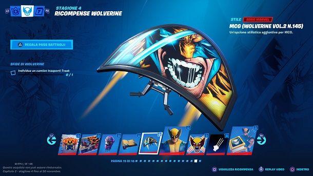 Deltaplano Wolverine Fortnite