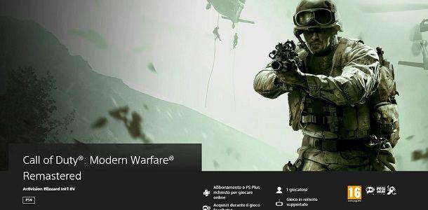 Modern Warfare Remastered su PS4