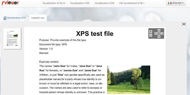 Come aprire file XPS online