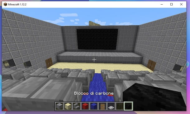 Schermo cinema Minecraft