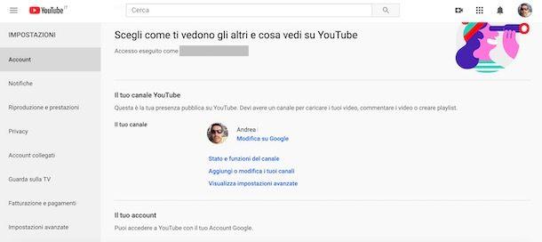Creare un secondo canale YouTube