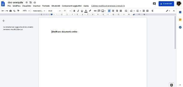 Modificare documenti Word con Documenti Google