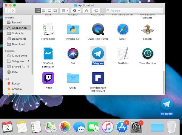 Disinstallare Telegram macOS