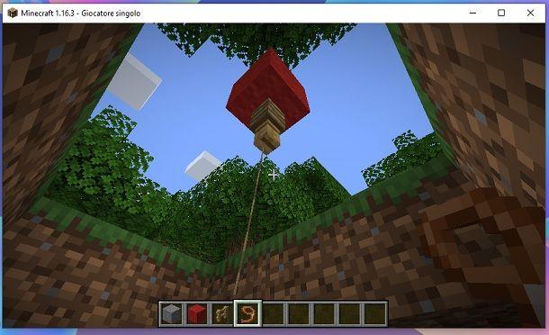 Palloncino finito Minecraft