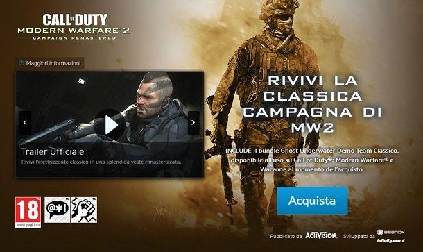 Modern Warfare 2 Remastered su Battle.net