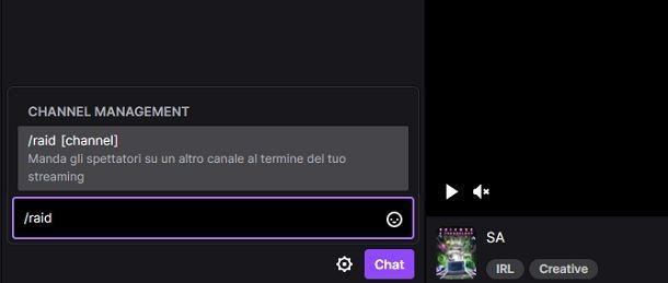Raid PC Twitch