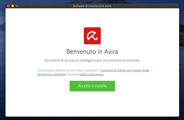 Installazione Avira Free Security per Mac