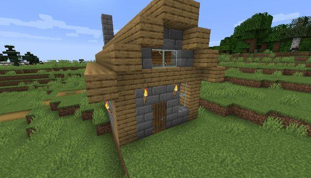 Casa medievale su Minecraft