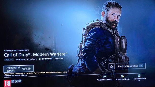 Call of Duty Modern Warfare su PS4