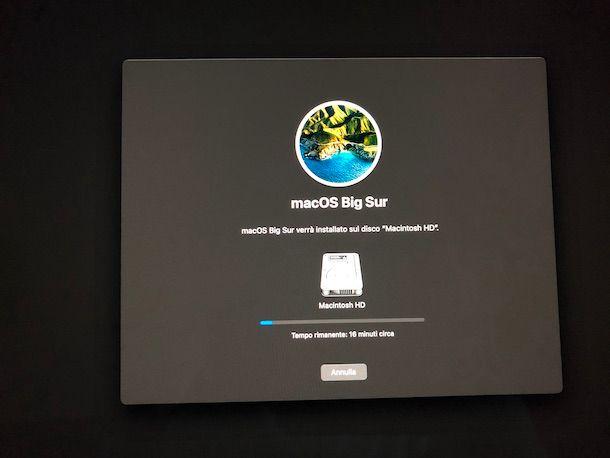 Installazione macOS Big Sur