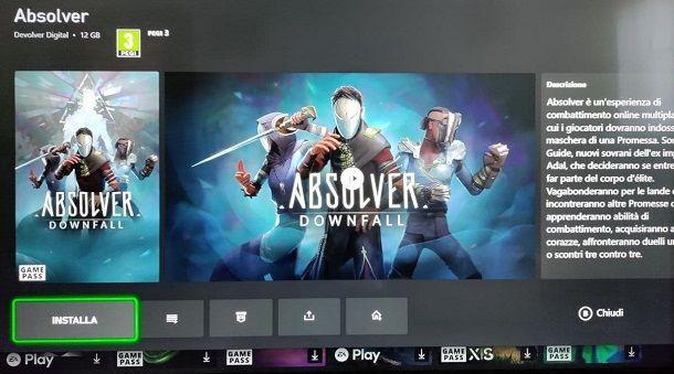 Come installare giochi Xbox Game Pass Ultimate