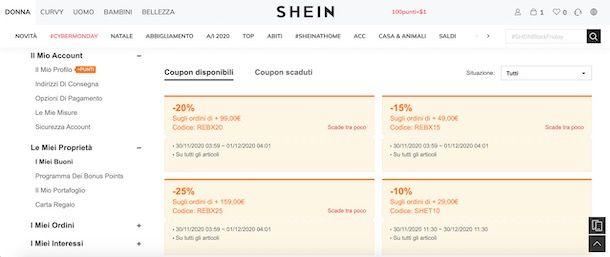 Coupon SHEIN