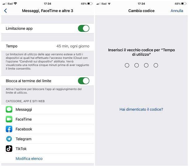 Come togliere il blocco app su iPhone