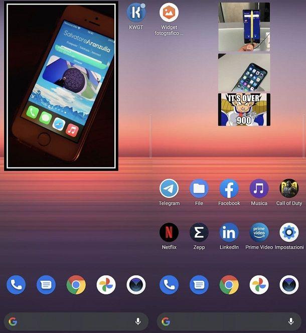 Simple foto Widget Android