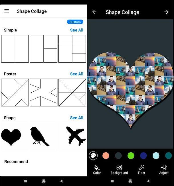 App per fare collage a forma di cuore