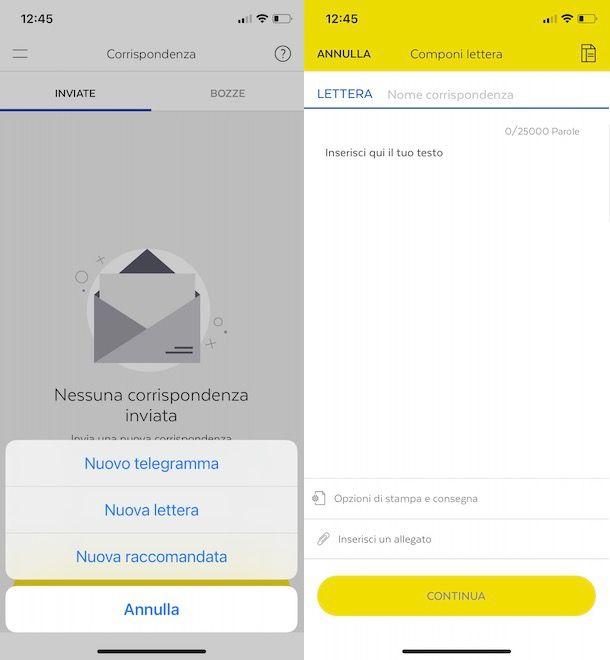 Come spedire documenti per posta da smartphone e tablet