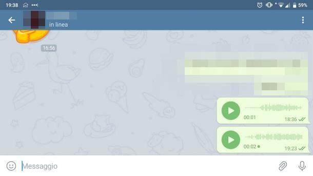 Come capire se un messaggio vocale è stato ascoltato: Telegram