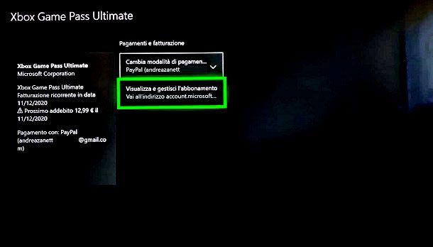Come disattivare Xbox Game Pass