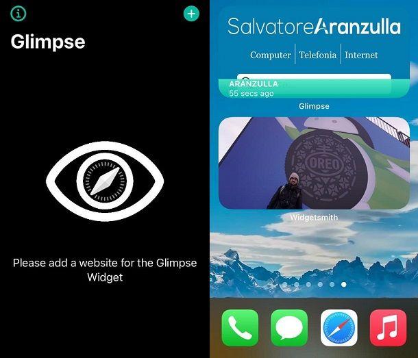 Glimpse Widget iPhone