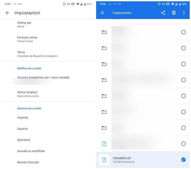 Come trasferire i contatti da un telefono Android con Bluetooth