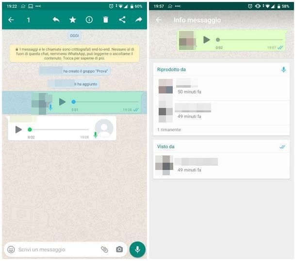 Come capire se un messaggio vocale è stato ascoltato: WhatsApp