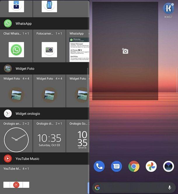Come creare widget con foto Android