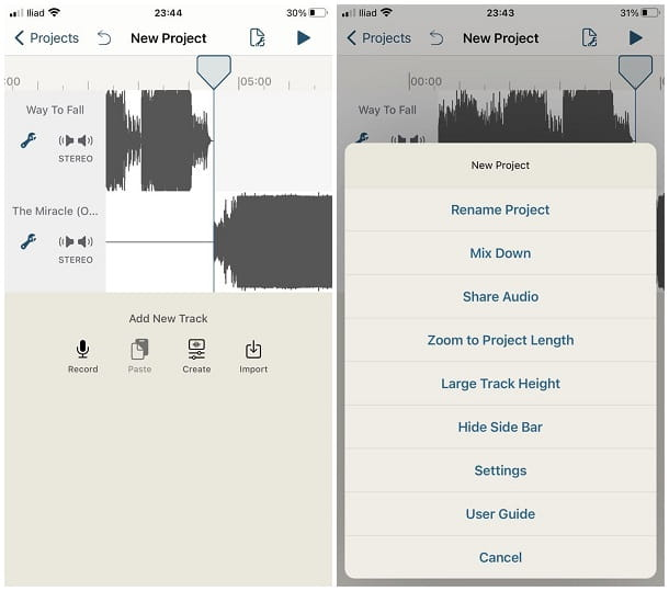 Come unire due audio su iPhone