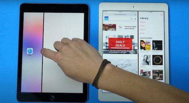 Dividere schermo iPad in orizzontale