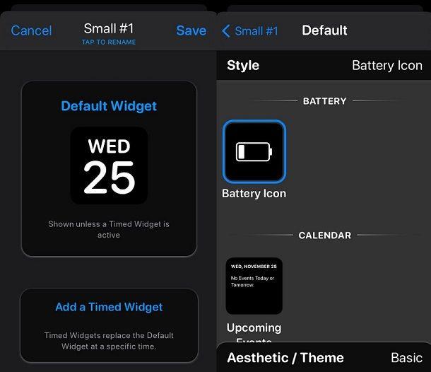 Come personalizzare widget iOS