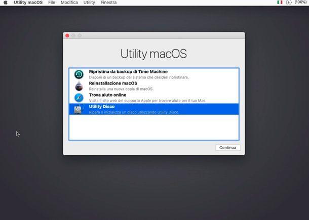 Come ripristinare il Mac dal BIOS senza CD