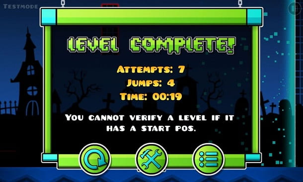 Livello completato Geometry Dash