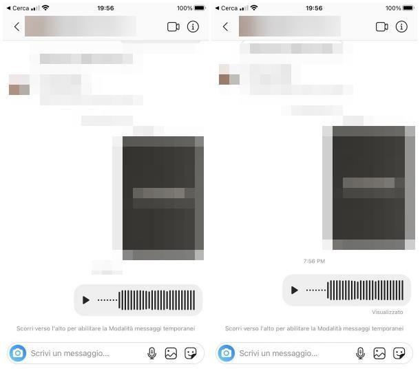 Come capire se un messaggio vocale è stato ascoltato: Instagram